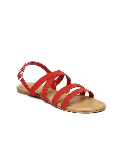 Lavie Women Red Open Toe Flats