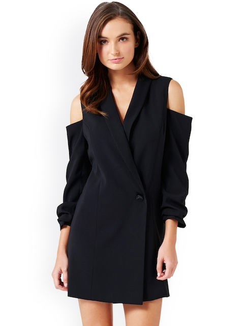 Forever New Women Black Solid Tailored Jacket