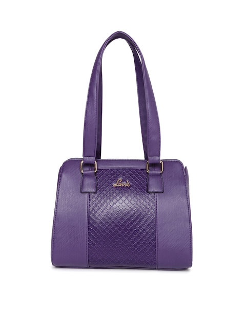 Lavie Purple Textured Shoulder Bag