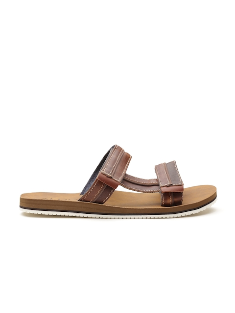 ALDO Men Brown Monterano Leather Sandals