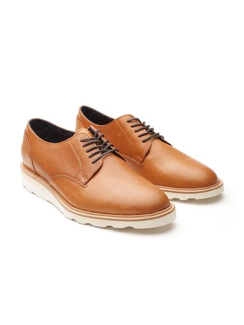 ALDO Men Tan Brown Leather Derbys