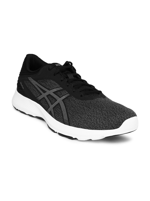 ASICS Men Black & Grey Nitrofuze Running Shoes  available at myntra for Rs.3499