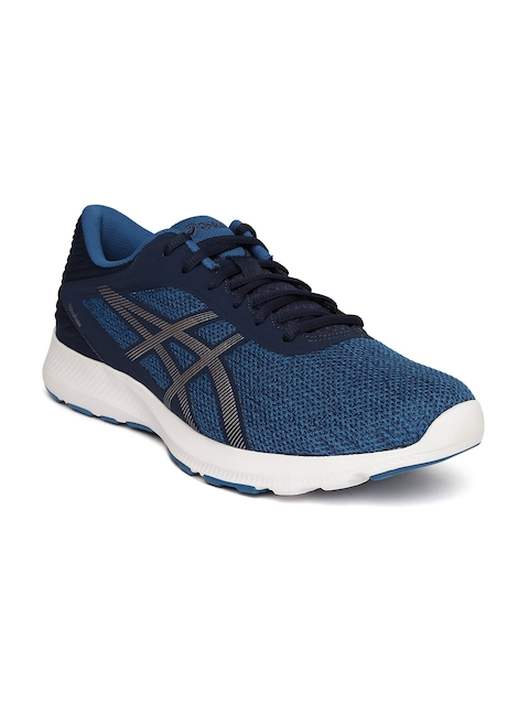 ASICS Men Blue Nitrofuze Running Shoes