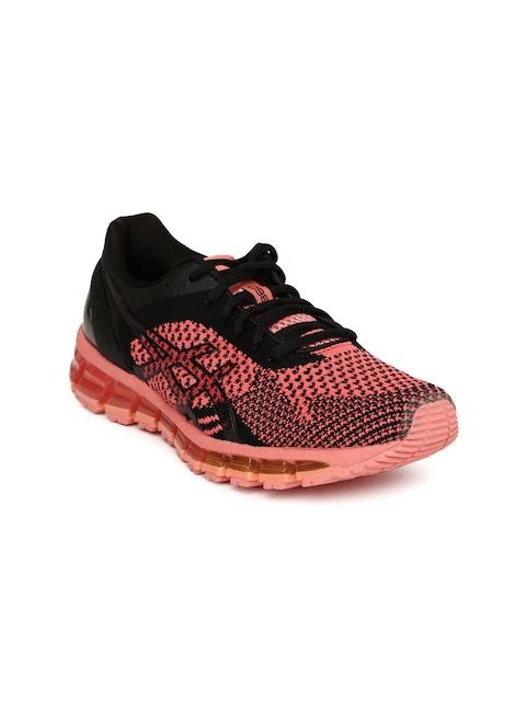 ASICS Women Black GEL-QUANTUM 360 KNIT Running Shoes
