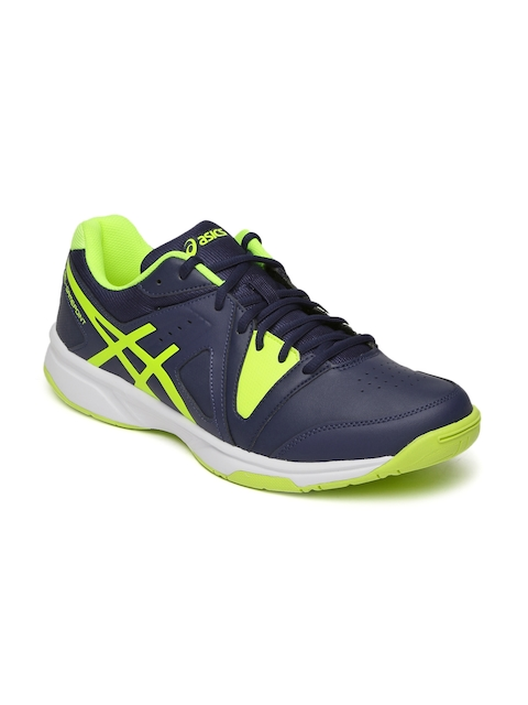 ASICS Men Navy Blue Gel Game Point Tennis Shoes  available at myntra for Rs.3999