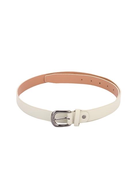 Alvaro Castagnino Women Cream-Coloured Solid Belt
