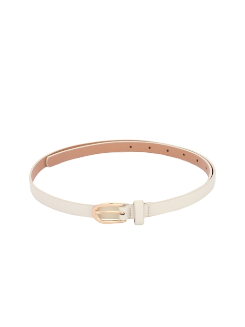 Alvaro Castagnino Women Cream Solid Belt