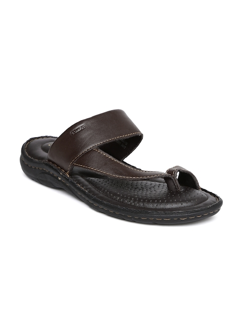 Bata Men Brown Leather Sporty Toering Sandals