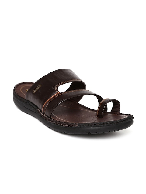 Dr. Scholl Men Brown Leather Sandals  available at myntra for Rs.899