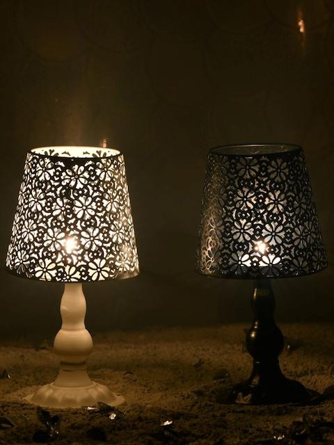 OddCroft Black Lampshade Candle Holder