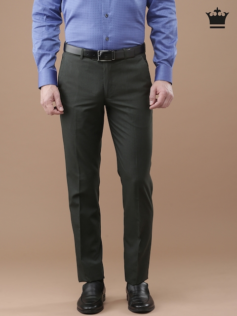 Louis Philippe Charcoal Grey Milano Fit Formal Trousers