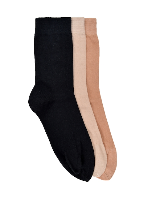 MARC Women Pack of 3 Solid Above Ankle-Length Socks