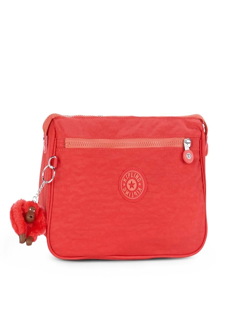 Kipling Unisex Red Toiletry Pouch with Key Chain