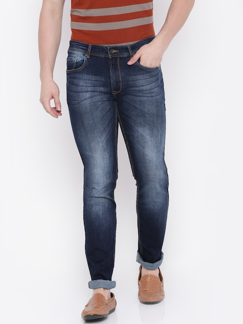 Peter England Men Blue Slim Fit Stretchable Jeans