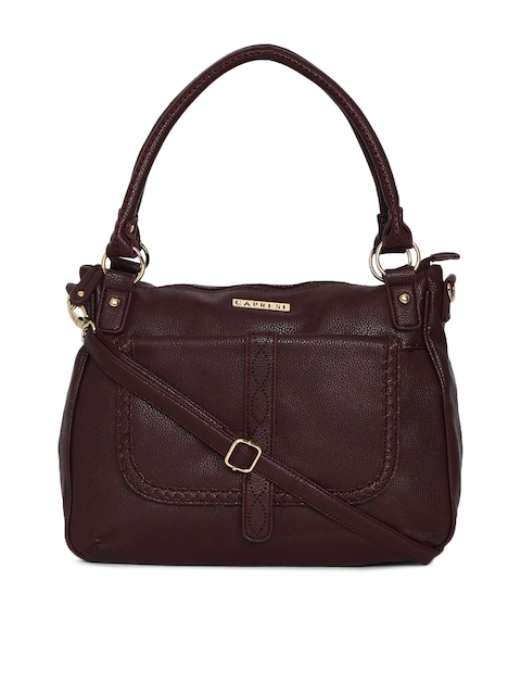 Caprese Burgundy Solid Shoulder Bag