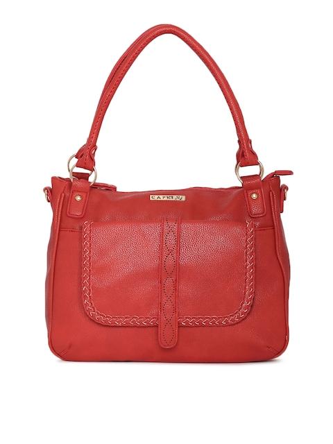 Caprese Red Solid Shoulder Bag