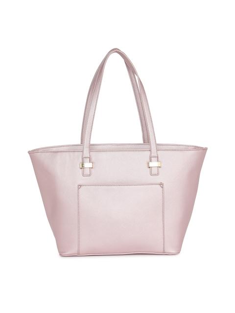 Caprese Pink Solid Tote Bag