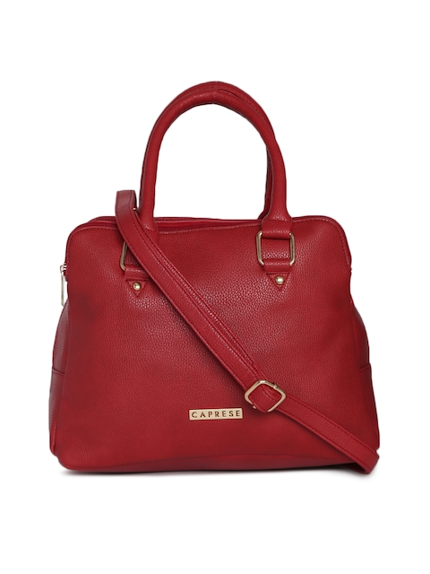 Caprese Red Solid Handheld Bag