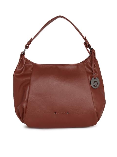 Caprese Brown Solid Hobo Bag
