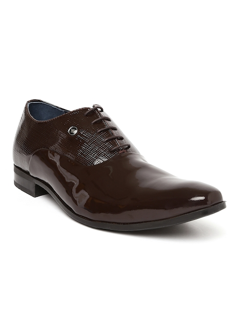 Louis Philippe Men Brown Genuine Leather Formal Oxfords