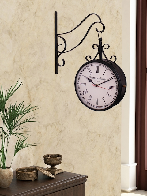 Home Sparkle White Dial Analogue 30 cm Wall Clock