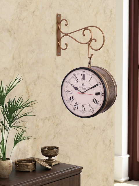 Home Sparkle Off-White Dial Analogue 27 cm Wall Clock