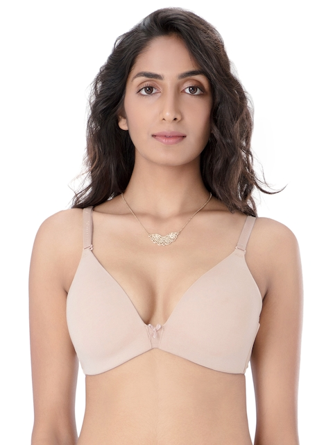PrettySecrets Nude-Coloured Non-Wired Lightly Padded T-shirt Bra B0002