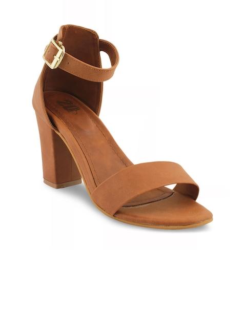 20Dresses Women Brown Solid Block Heels
