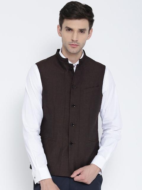 Blackberrys Coffee Brown Slim Fit Nehru Jacket