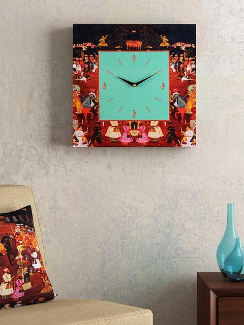 SEJ by Nisha Gupta Blue Dial 35.5 cm X 35.5 cm Square Analogue Wall Clock