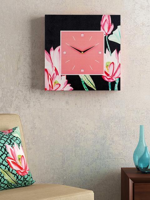 SEJ by Nisha Gupta Pink Dial 35.5 cm X 35.5 cm Square Analogue Wall Clock