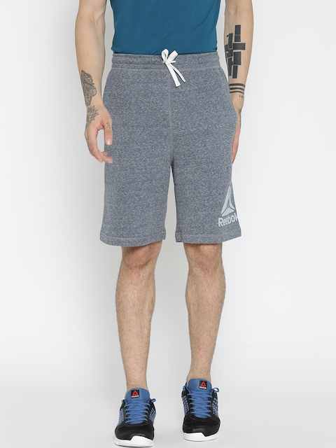 Reebok Men Grey EL PRM GRP Solid Sports Shorts  available at myntra for Rs.749