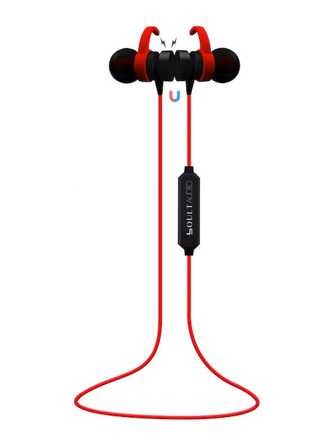Boult Red & Black Wireless Bluetooth Earphones With Mic