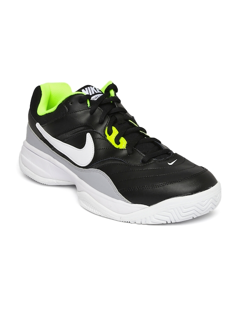 Nike Men Black COURT LITE Leather Tennis Shoes