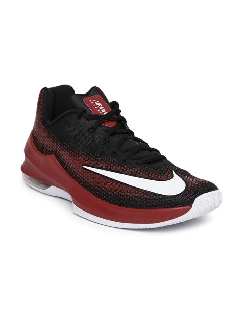 Nike Men Black & Maroon AIR MAX INFURIATE Basketball Shoes