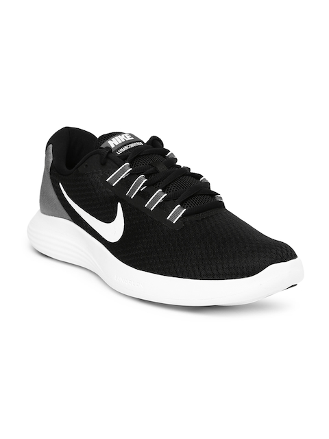 Nike Men Black & Grey Lunarconverge Running Shoes
