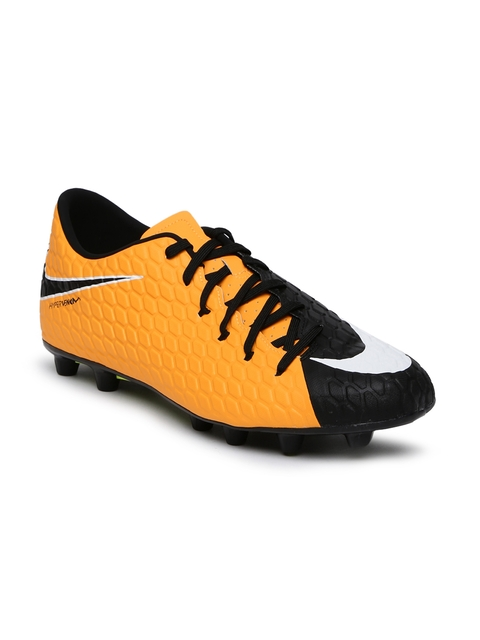 Nike Men Orange HYPERVENOM PHELON III HG-E Football Shoes