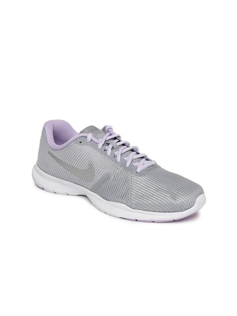 Nike Women Grey FLEX BIJOUX Training or Gym Shoes