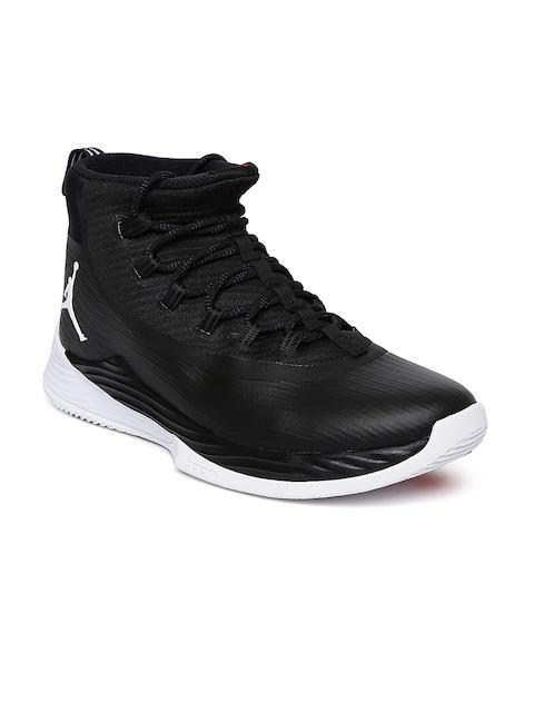 Nike Men Black Textile Mid-Top JORDAN ULTRA FLY 2 Basketball Shoes