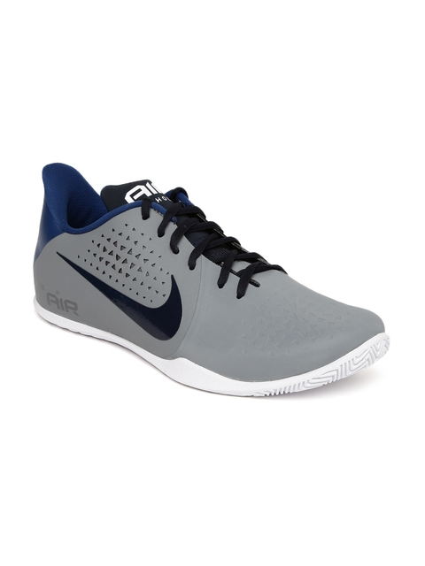 Nike Men Grey AIR BEHOLD LOW Basketball Shoes