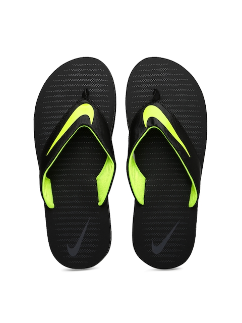 Nike Men Black 5 Printed Flip-Flops