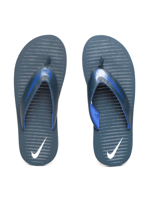 Nike Men Navy Printed Chroma 5 Flip-Flops