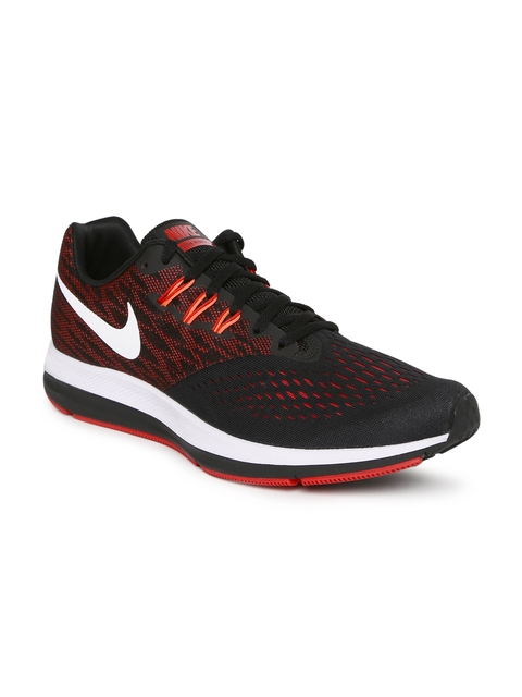 Nike Men Black ZOOM WINFLO 4 Running Shoes