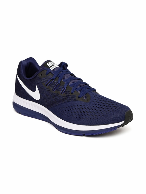 Nike Men Navy Blue ZOOM WINFLO 4 Running Shoes