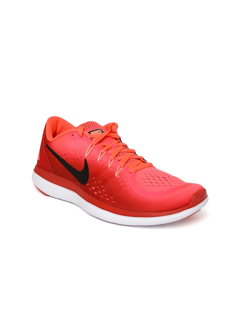Nike Men Neon Pink NIKE FLEX 2017 RN Running Shoes