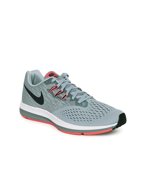 Nike Men Grey NIKE ZOOM WINFLO 4 Running Shoes