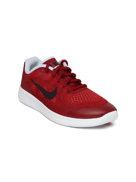 Nike Boys Red FREE RN 2017 Running Shoes