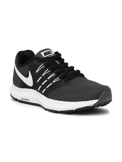 Nike Men Black & Charcoal Grey RUN SWIFT Running Shoes