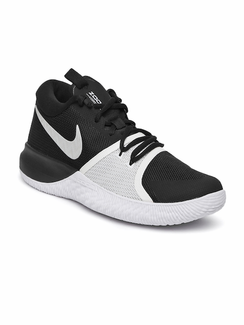Nike Men Black & Grey Zoom Assersion Basketball Shoes
