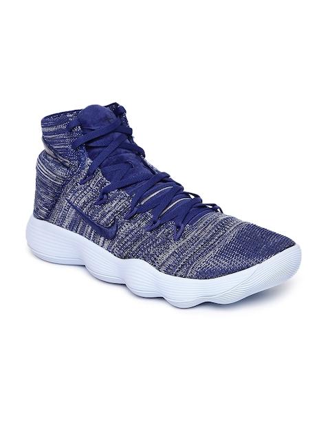 Nike Men Blue HYPERDUNK 2017 FLYKNIT Basketball Shoes